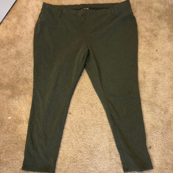 1be24795394d0 Faded Glory Pants - Olive Green Jeggings Plus Size. Faded Glory. 4x